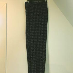 Eloquii 26 Black Flat front dress pants sunburst